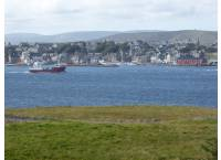View from garden over to Lerwick